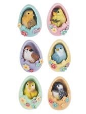 Ganz E9 Easter Decor Songs Of Spring Birds In Eggs 2in Mini Figurine 6pc Set