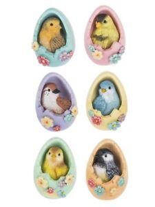 Ganz E9 Easter Decor Songs Of Spring Birds In Eggs 2in Mini Figurine 6pc Set