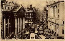 London Großbritannien 1936 Mansion House Cheapside Bow Church Bus Auto Verkehr