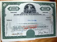 Stock certificate Rayette-Faberge, Inc, (Brut, Babe) to broker Daly & CO + docum