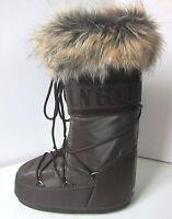 Tecnica MOON BOOT Romance braun Gr. 42 - 44 Moon Boots Kunstfell Fell fake fur