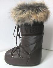 Tecnica Moon Boot romance marrón talla 35/38 Moon botas piel sintética fell Fake fur