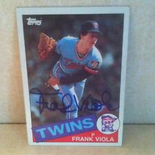 1985 Topps Frank Viola Twins Mets Auto Signed Card