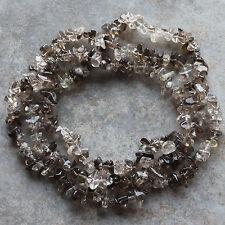 "Smoky Quartz Gemstone Chip Loose Beads 34"" Strand Natural Gemstone Chips"