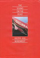 Gilera 600 Nordwest Prospekt 1992 brochure Motorrad Broschüre Motorradprospekt