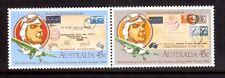 AUSTRALIA 1984 NZ Airmail 50th anniv pair MUH