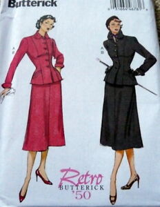 *LOVELY RETRO 1950s SUIT BUTTERICK Sewing Pattern 14-16-18-20-22 UNCUT