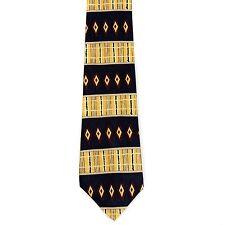 "Perry Ellis Portfolio Men's Silk Triple Diamonds Neck Tie Yellow 4"" x 58"""
