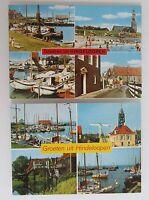 Hindeloopen Postkarten Briefkaart Lot 2x Ansichtskarte Haven Hafen Gebäude uvm.