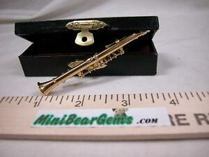 """Miniature Music 1:12 instrument  3"""" Clarinet with case Set #Z223 Will Not Play"""