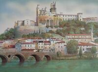 Rolf Rafflewski: Castillo Sobre El el Loira - Litografía Original Firmada #250ex