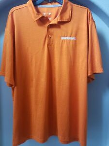 Whataburger Polo Shirt Employee Uniform Orange Stripe size XL