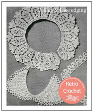 1940s Wartime Crochet Collars and Lace Pattern -  Pattern Copy
