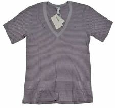 Juniors Size Short Sleeve Striped Graphic Tees for Women
