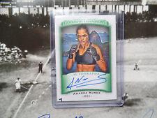 Amanda Nunes 2017 Upper Deck Goodwin signed Autograph Auto Card MMA UFC Champion
