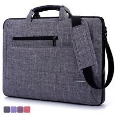 Nylon Oxford Laptop Messenger Carrying Case Notebook Shoulder Bag for HP Lenovo Grey 15.6 Inch
