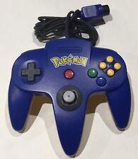 Pikachu Pokemon Blue N64 OEM Official Controller Nintendo 64 Tested & Works