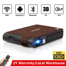 3D DLP Android Bluetooth Smart Projector Home Cinema Meeting Office +3D Glasses