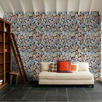 10m 3D Vinyl Stone Wallpaper Stickers Self Adhesive Wall Cover Living Room Decor