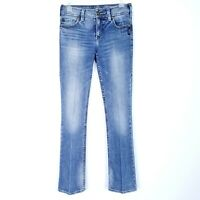 SILVER JEANS Women's size 29x32 Bootcut Light Medium Abrasion Pressed Crease
