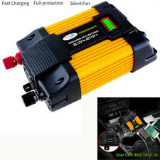 LED Battery Display 4000W Dual USB Car Power Inverter Converter Multi Protection