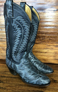 Womens Justin Western Cowgirl Boots Blue Leather Size 7.5 B