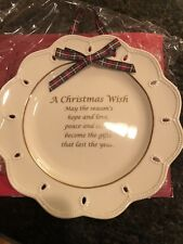 New Nib Lenox Christmas Wish Plate Collectable Hostess Gift Holiday Hang Nwt