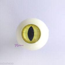 Super Dollfie SD Hujoo Berry Yomi Doll Acrylic Full Round Cat Eye 20mm Yellow