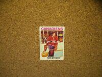 1975-76 Topps Hockey #35 Ken Dryden (Montreal Canadiens)