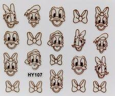 Nail Art 3D Decal Stickers Disney's Donald Duck & Daisy Duck HY107