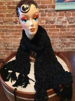 INC Black Chenille Shine Soft Knitted Winter Fashion Scarf O/S New