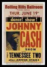 "Framed Vintage Style Rock n Roll Poster ""JOHNNY CASH SHOW""; 12x18"