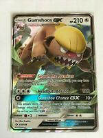 Gumshoos GX ULTRA RARE 110/149 Pokemon TCG Sun and Moon Base Set NM Holo Rare