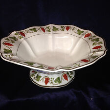 """WEDGWOOD COMPOTE CENTERPIECE BOWL 10 3/4"""" RED GRAPES ON VINE WHITEFRIARS POWELL"""
