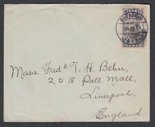 LIBERIA 1923 PICTORIAL FRANKING COVER BUCHANAN TO LIVERPOOL ENGLAND