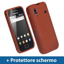 Rosso Custodia TPU Gel per Samsung Galaxy Ace S5830 Case Cover Rigida Protezione