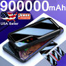 900000mAh UltraThin Power Bank Dual USB Portable External Battery Backup Charger