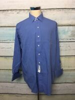 NWT Brooks Brothers  Non Iron Long Sleeve Button Down Dress Mens 17 34 Blue