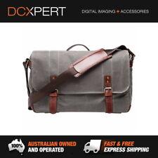 ONA The Union Street Messenger Bag Smoke Waxed Canvas & Leather Lenses Bags