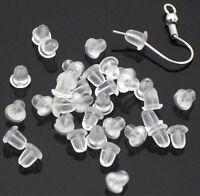 500PCS 4MM Rubber Earring Back Stoppers Ear Post Nuts Findings Jewelry Making