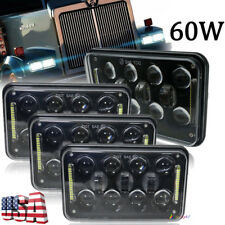 "4pcs DOT Approved 4x6"" Led Headlights For Peterbilt Kenworth H4651 H4652 H4666"