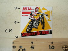 STICKER,DECAL AVIA MOTOROIL MOTOCROSS MX SPORTIEF OP WEG