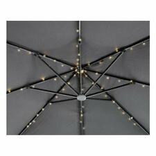 72 LED LIGHT PARASOL CHAINS STRING SOLAR UMBRELLA GARDEN PATIO LAMPS
