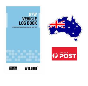 1 x Wildon Vechicle log Book 87W Blue - New Design - Tax Purposes