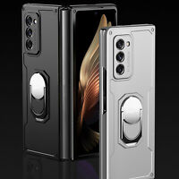 For Samsung Galaxy Z Fold 2 Shockproof Hard PC Case Ring Holder Protective Cover