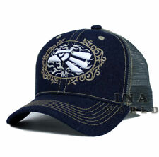 Mexican hat Hecho En Mexico Eagle Denim Trucker Mesh Curved bill Baseball  cap a878cf7385f5