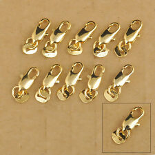 Wholesale SALE 18K Gold Filled Necklace Bracelet Findings Lobster clasp Gifts