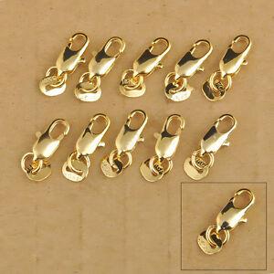 Wholesale HOT SALE 18K Gold Filled Necklace Bracelet Findings Lobster clasp Gift