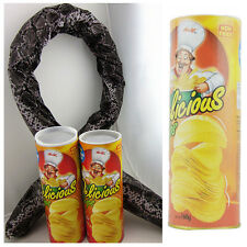 Creative Potato Chip Can Jump Spring Snake Gift Halloween Trick Prank Joke Toy