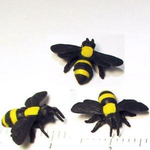 Doll House Shoppe Toy Bumble Bee Set/3 11423 Micro-mini Miniature